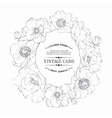 Design of vintage floral card vector
