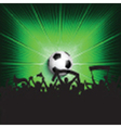 Football supporters background vector