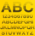 Halftone lines alphabet letters vector
