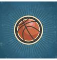 Retro basketball vector