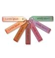 Set of wooden labels vector