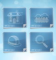 Blueprint icons set vector