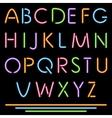 Realistic neon tube letters alphabet abc font vector