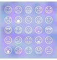 Icons set of smiley faces for mobile application vector