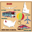 Flat map of idaho vector