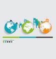 Modern infographics template style modern globe vector