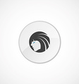 Beauty girl face icon 2 colored vector