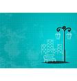 Streetlight background vector