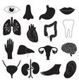Human organ icons set vector