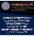 Technology font image vector