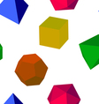 3d colorfull geometric shapes vector
