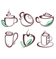 Hot drink coffee vector