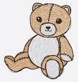 Sketch cute bear vector