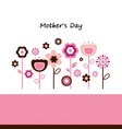 Beautiful flowers for mothers day celebration vector
