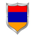 Armenia flag button vector