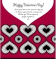 Happy valentines day card with lace hearts vector