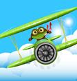 Frog pilot vector
