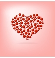 Heart of red bubbles valentines day vector