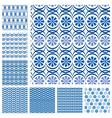 Blue seaml set 3 380 vector