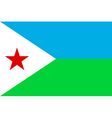 Flag of djibouti vector