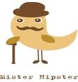 Cute hipster bird vector
