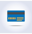 Blue color credit card icon vector