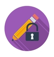 Lock for editing single icon vector