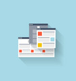 Flat web icon browser interface window vector