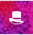 Cylinder hat icontriangle background vector