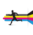 Cmyk side runner vector