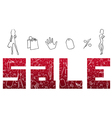 Red sign sales vector