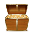 Opened treasure chest vector