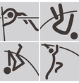 Pole vault icons vector