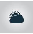 Sun cloud icon vector