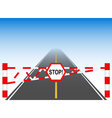 The road with a barrier vector