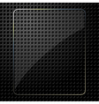 Glass plate on black background vector