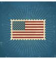 Retro united states postage stamp vector