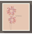 Poster with abstract pastel-colored flower vector