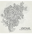 Vintage background with flowers dahlias vector