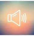 High speaker volume thin line icon vector