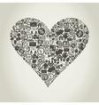 Business heart vector
