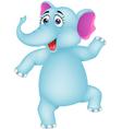 Baby elephant dancing vector