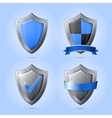 Collection of shield emblems vector