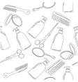 Background with hairdressing accessories vector