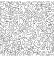 Seamless pattern with different arrows vector