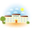 A modern school vector