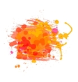 Artistic watercolor background of sunny red orange vector