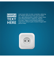 White socket in the blue wall vector