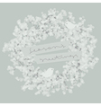 White wreath with two pretty birds vector