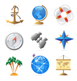 Icons for sea travel vector